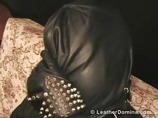 Leather bondage slings The leather domina - leather fetish - total leather bondage