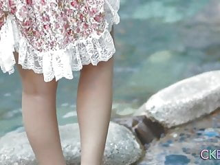 Voyeur rtp uri - Shy japanese teen uri-chan playing by the water
