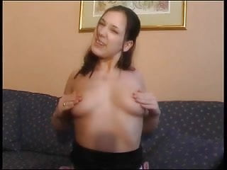 Presses her asshole on his nose Cute young brunette gets fucked in her tight asshole and swallows his cum