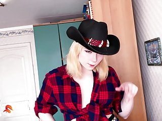 Teen deepthroat cum sluttoad Cowboy girl cowgirl on dick and deepthroat - cum closeup