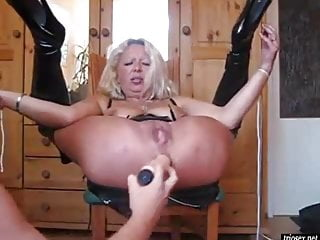Brutal mature sex Mature anal fisting play