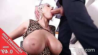 Stuffed into her mouth