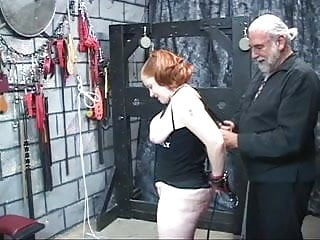 Red-headed mature A thick red-headed slut gets nice her tits squeezed