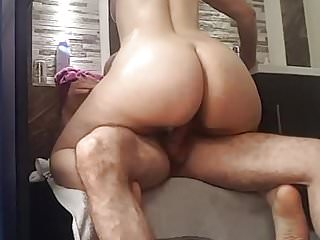 Latin ass vids - Nice cellulitic round latin ass riding