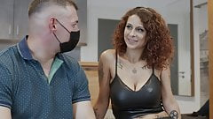 Slut meets without a mouthguard to fuck! i creampie her cunt