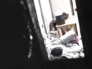 Voyeur peep cam Window peep 15 girl masturbating