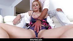 Wholesome MILF Penny Pax Gets Perfect Tits and Pussy Oiled