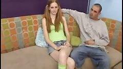 Casting very skinny redhead Layla Exx