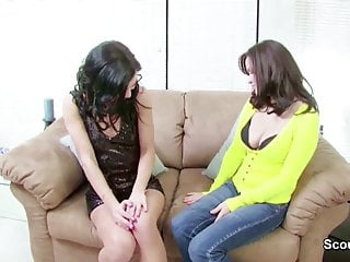 Lesbian dating shows - Mother show petite step-daughter how to fuck before date