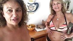 Milfs Kaye and Nadia Bikini Clip
