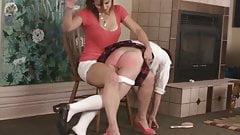 Audrey Knight OTK FF spanking daughter