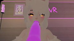 Cute angel plays with her new toy's in VRChat