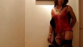 Transvestite Strip at Party