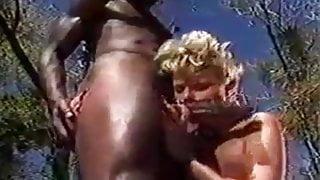 blond fucks a huge thick black dick
