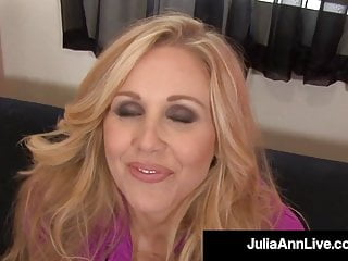 Spew porn Mesmerizing mommy julia ann spews cum on feet after blowjob