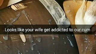 Looks like your used cheating wife gets a cum addiction!