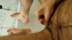 Feet, socks end cumming