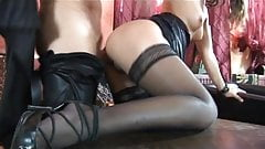 Celine Ry fucking in black stockings