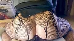 Eva Jensen tranny girl lingerie riding sex toy