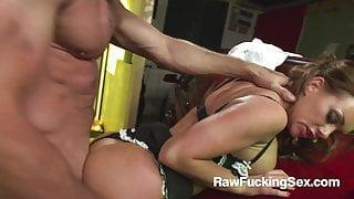 Raw Fucking Sex - Mechanic Guy Fucks Busty Paige Ashley