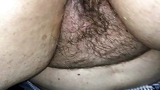 Licking Creampie From Wifes Hairy Pussy
