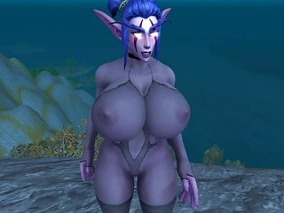 Elf female naked night - Worship with huge night elf ass