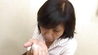 Japanese Step Mom Sucks Swallows & Squirts
