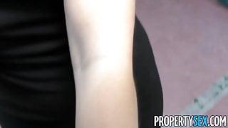 PropertySex - Spanish babe fucks American at flat showing