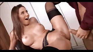 Beautiful secretary gets anal sex from her boss