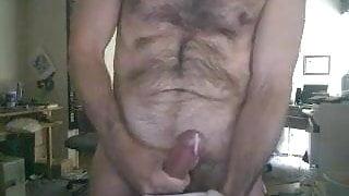 straight daddy cumming on cam