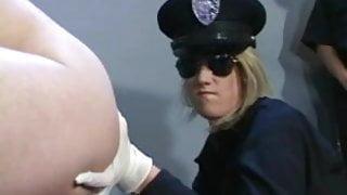 Lesbian Agent examining the Holes of the Prisoner