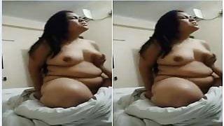 Exclusive- Big Boob Desi Girl Ridding Lover D...