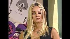 Super Sexy Brazilian Blonde Carmen Luvana Poker Striptease