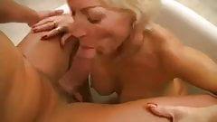 Mature fucked in her bathroom