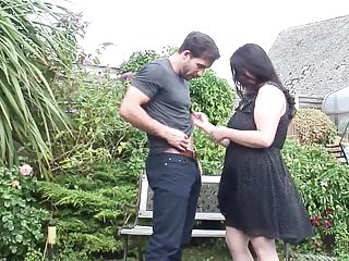 Milf with big saggy tits Mature mother with big saggy tits takes young cock