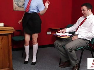 Naughty student gets pussy licked Naughty student instructs teacher to jerk