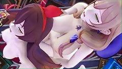 Genshin Impact 3D Hentai - Lisa & Amber's Night of Passion