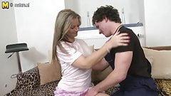 Hot steamy MILF fucks her toyboy