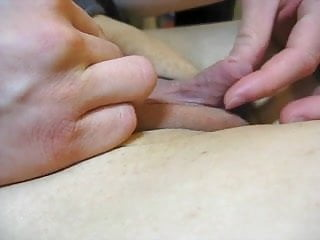Lubetube clit Big clit stroking