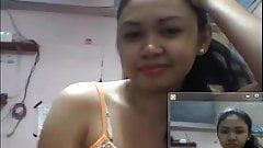 filipino girl showing boobs in skype in 2015