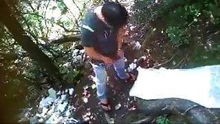 Desi Hindi girlfriend with her boyfriend outdoors 0000001