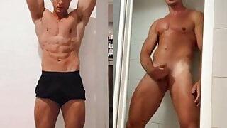 Sexy boy naked jerking