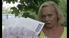 Sometimes, Money Talks #4 (Busty Blonde Granny GILF!)