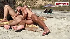 amateurs fucking in the public beach #2