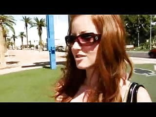 Ariel las vegas strip - Redhead visiting las vegas gets talked into fucking in limo