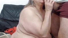 Granny blowjob on live webcam