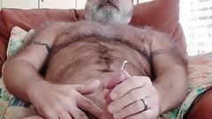 Bearded daddy jerking off