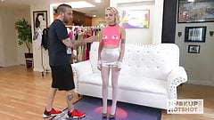 Blonde teen Alice Pink gets her asshole stretched by date