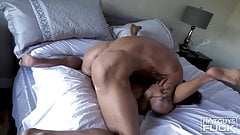 skinny slut gets fucked and cum on her ass