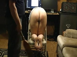 Father son bare ass spanking - Spanking slave bare ass for punishment with paddle